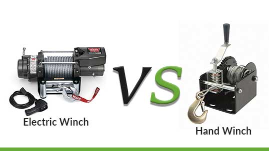Hand winch vs. Electric winch- What Are The Differences?
